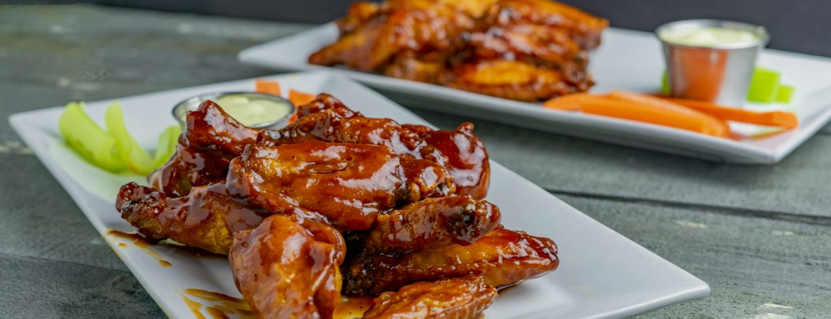 fried bbq chicken wings