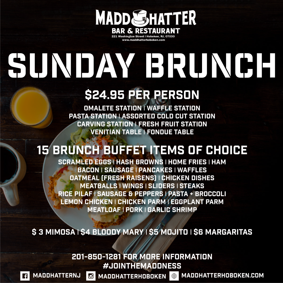 brunch party, brunch specials, happy hour, day drinking, brunch menu