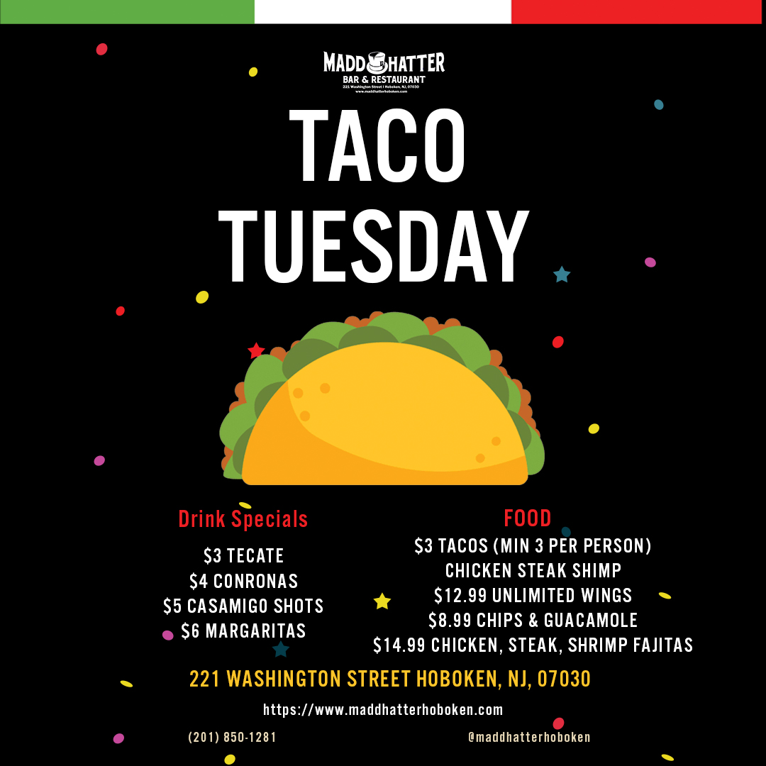 taco tuesday, bar specials