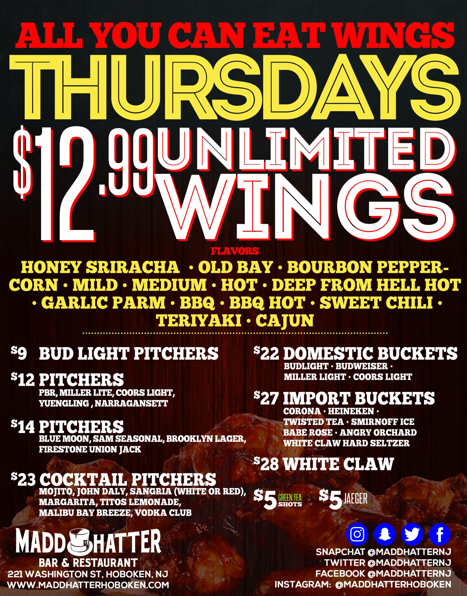 unlimited wing thursday