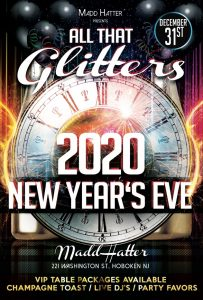 New Years Eve All That Glitters Flyer 2020